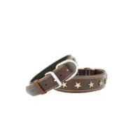 Doggie Yıldız Metal Süslü Deri Boyun Tasması (3.5Cmx60Cm)