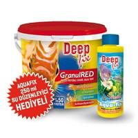 Deep Fix Granül Red (Yüksek Proteinli Granül Balık Yemi) 3000 Gr + Aqua Fix 250ml Su Düzenleyici Hediyeli!