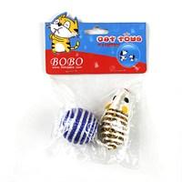 Bobo Örgü Top & Renkli İp Fare 2'Li Kedi Oyuncağı