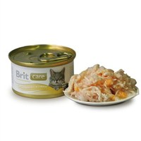 Brıt Care Chıcken Breast & Cheese Tavuklu Ve Peynirli Kedi Konservesi 80 Gr
