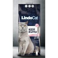 LindoCat Dogal Bentonit Kedi Kumu Parfümlü 10Lt ( Kalın Taneli,Topaklaşan) fd*