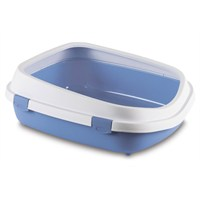 Stefanplast Queen Açık Kedi Tuvaleti Mavi