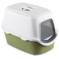 Stefanplast Cathy Kapalı Kedi Tuvaletin Yeşil