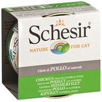 Schesir Cat Naturel Brine 85Gr.Can - Tavuk Etli Kedi Konservesi