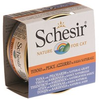 Schesir Cat Broth Naturel Sauce 70Gr. - Ton Balıklı Ve Sardalyalı Kedi Konservesi