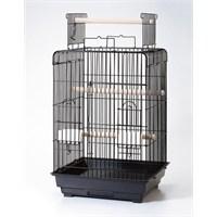 Qh Pet Papağan Kafesi Açılır Çatılı Beyaz 47X47x85