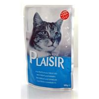 Plaisir Pouch Alabalık-Karidesli Yaş Kedi Maması 100 Gr fd*