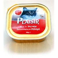 Plaisir Pate Somonlu Yaş Kedi Maması 100 Gr