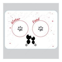Trend Store Kedi Mama Servis Altlığı