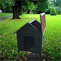 Garden Çatısı Açılır Köpek Kulübesi Standart Ahşap Rengi