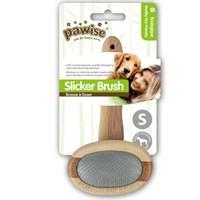 Pawise Ahşap Tutma Saplı Oval Kedi Ve Köpek Tarama Fırçası Small