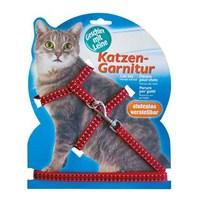 Katzen Kedi Göğüs Tasması Reflektörlü Kırmızı