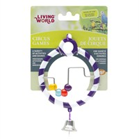 Living World Kuş Oyuncağı Zilli Boncuklı Halka - Mor