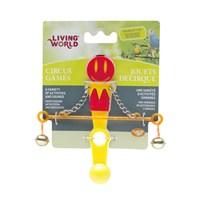 Living World Kuş Oyuncağı Denge Çubuğu - Kırmızı Sarı
