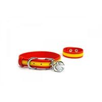 Köpek Boyun Tasması/Bileklik Sarı-Kırmızı S