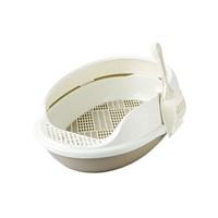 Açık Lux Kedi Tuvaleti Elekli Kahve