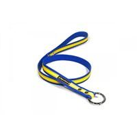Köpek Gezdirme Kayışı 2 Cm Sarı-Lacivert M