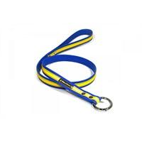 Köpek Gezdirme Kayışı 3 Cm Sarı-Lacivert L