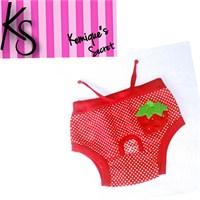 Kemique Köpek İç Çamaşırı - Strawberry - Regl Külot