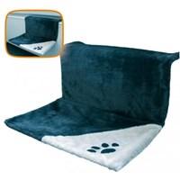 Nobby Kedi Kalorifer Yatağı 45 X 31 X 24 Cm (Mavi-Gri)