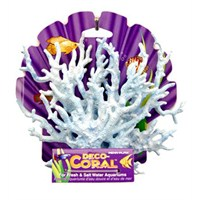 Dekoratif Yapay Mercan Kalın Dallı Mavi Mercan Orta Dallı Mavi