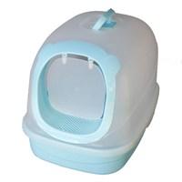 Pet Zone Filtreli Kapalı Kedi Tuvalet Kabı Mavi Büyük Boy