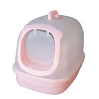 Pet Zone Filtreli Kapalı Kedi Tuvalet Kabı Pembe Büyük Boy