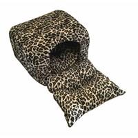 Pet Pretty Kedi Ve Küçük Irk Köpekler İçin Bahçeli Yuva Yatak Leopar 54 X 90 X 40 Cm