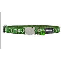 Reddingo Circadelic Desenli Yeşil Kedi Boyun Tasması12 Mm