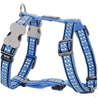 Reddingo Fosforlu Kemik Desenli Mavi Köpek Göğüs Tasması 12 Mm