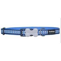 Reddingo Fosforlu Kemik Desenli Mavi Köpek Boyun Tasması 20 Mm