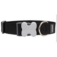 Reddingo Klasik Siyah Dev Kısa Köpek Boyun Tasması 40 Mm