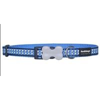 Reddingo Fosforlu Kemik Desenli Mavi Köpek Boyun Tasması 25 Mm