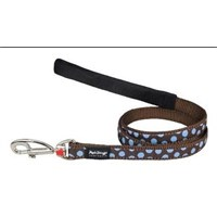Reddingo Kahverengi Üzeri Mavi Benekli Uzatma Köpek Tasması 25 Mm