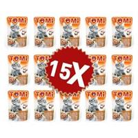 Tomi Kazlı Ve Ciğerli Yetişkin Kedi Konservesi Pouch 15 Adet (15 X 100 Gr)