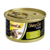 Gimpet Shiny Cat Ton Balıklı Çimenli Jöleli 70 gr
