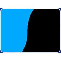Plastik Poster Çift Yüzlü 40 cm 15 m, Mavi Siyah