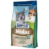 Happy Cat Minkas Mix Tavuk,Kuzu Ve Balıklı Kedi Maması 10 Kg