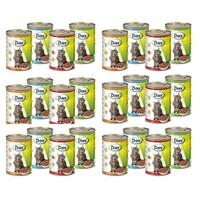 Dax Balıklı Hayvanlı Kedi Konservesi 415 Gr 24 Adet