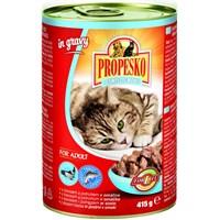 Propesko Somon & Alabalıklı Kedi Konservesi 415 Gr