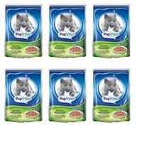 Prevital Sterile Parça Tavuk Etli Soslu Kisirlaştirilmiş Kedi Konservesi 6 X 100 Gr