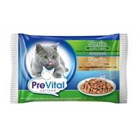 Prevital Kısırlaştırılmış Kedi Pouch Poşet 4X100 Gr (2 Kümes Hayvanlı + 2 Ciğerli)