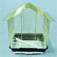 Qhpet Pirinç Telli Üçgen Çatılı Kuş Kafesi 34,5X28x45,5 Cm