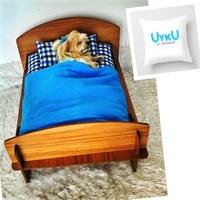 Uyku By Kemique Kahverengi Köpek Yatağı Mavi Takım
