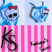 Kemique's Secret Lingerie Köpek İç Çamaşırı - Kuru Kafa Regl Külot