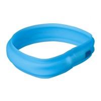 Trixie Işıklı Köpek Tasması M-L:50Cm/30Mm, Mavi