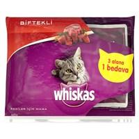Whiskas Pouch Multipack Biftek 85 Gr * 4lü