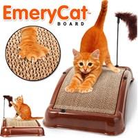 Emerycat Kedi Tırmalama Ve Tırnak Törpüleme Platformu - Fırça, Kedi Otu Ve Oyuncak Hediyeli!
