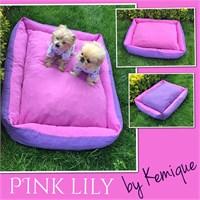 Pink Lily Köpek Yatağı Kemique 2X-Large