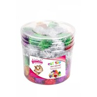 72 Li Pompom Balls/Pompom Top Paketi